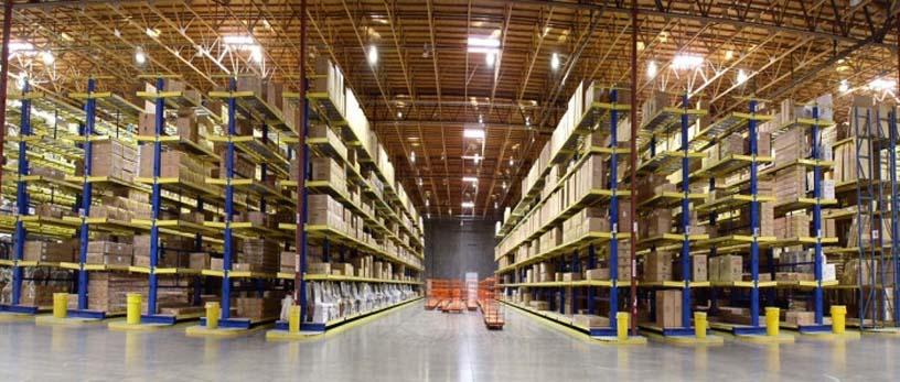 установка стеллажей на складе