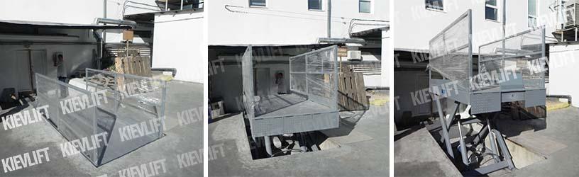 ножничные подъемники грузовые
